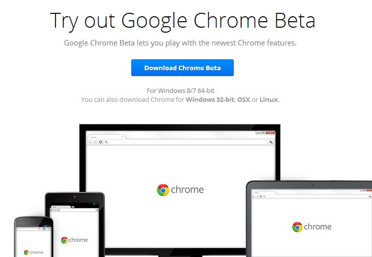 Chrome 64 Bit Beta Sürümü Yayınlandı