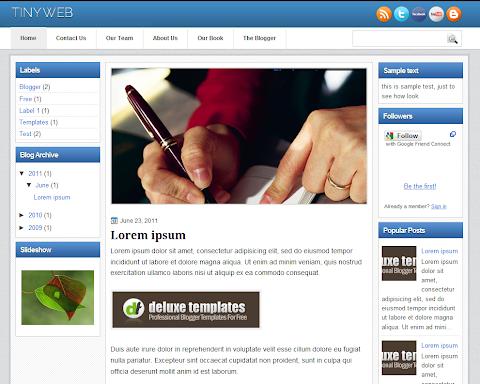 TinyWeb Blogger Theme