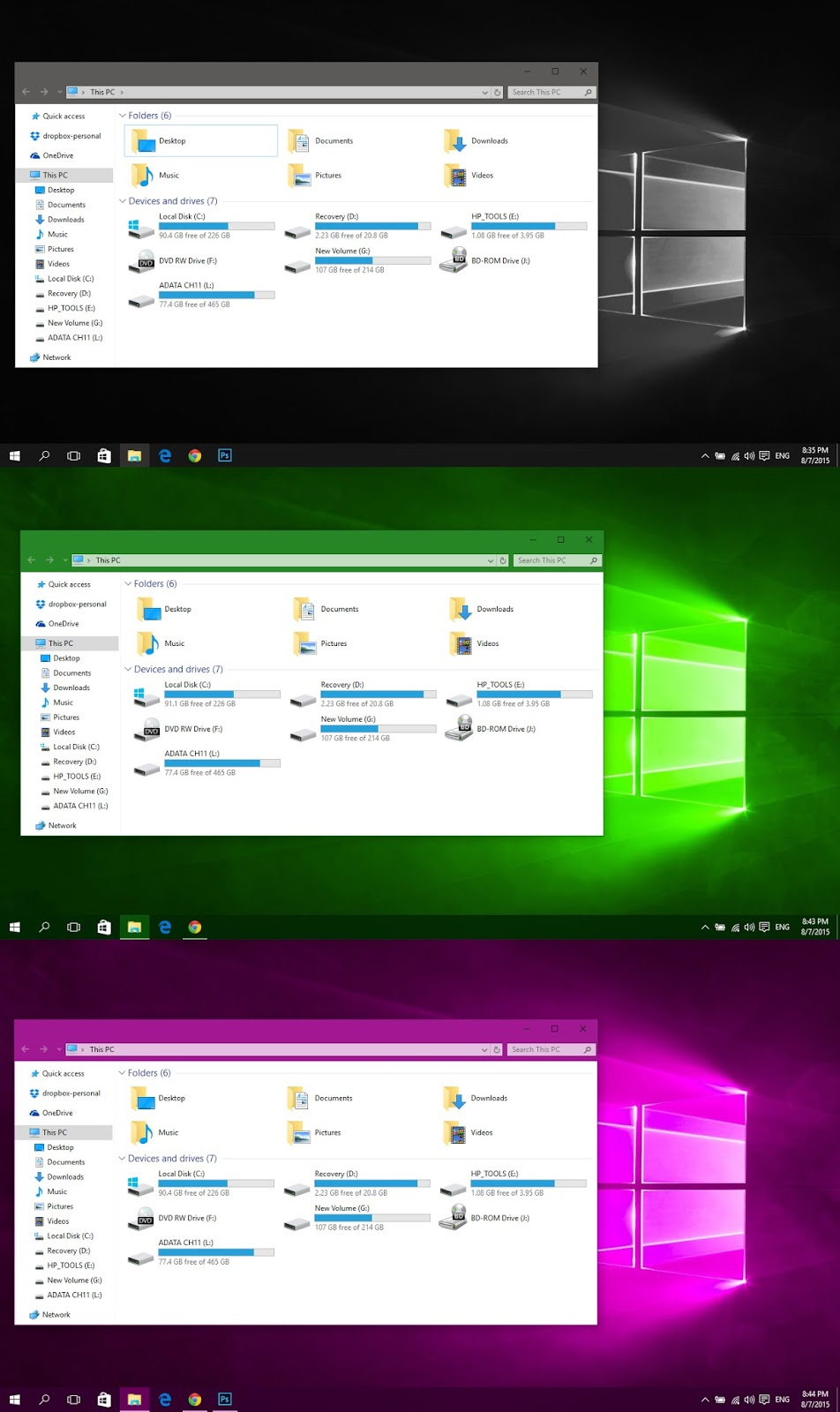 how to delete themes in windows 10