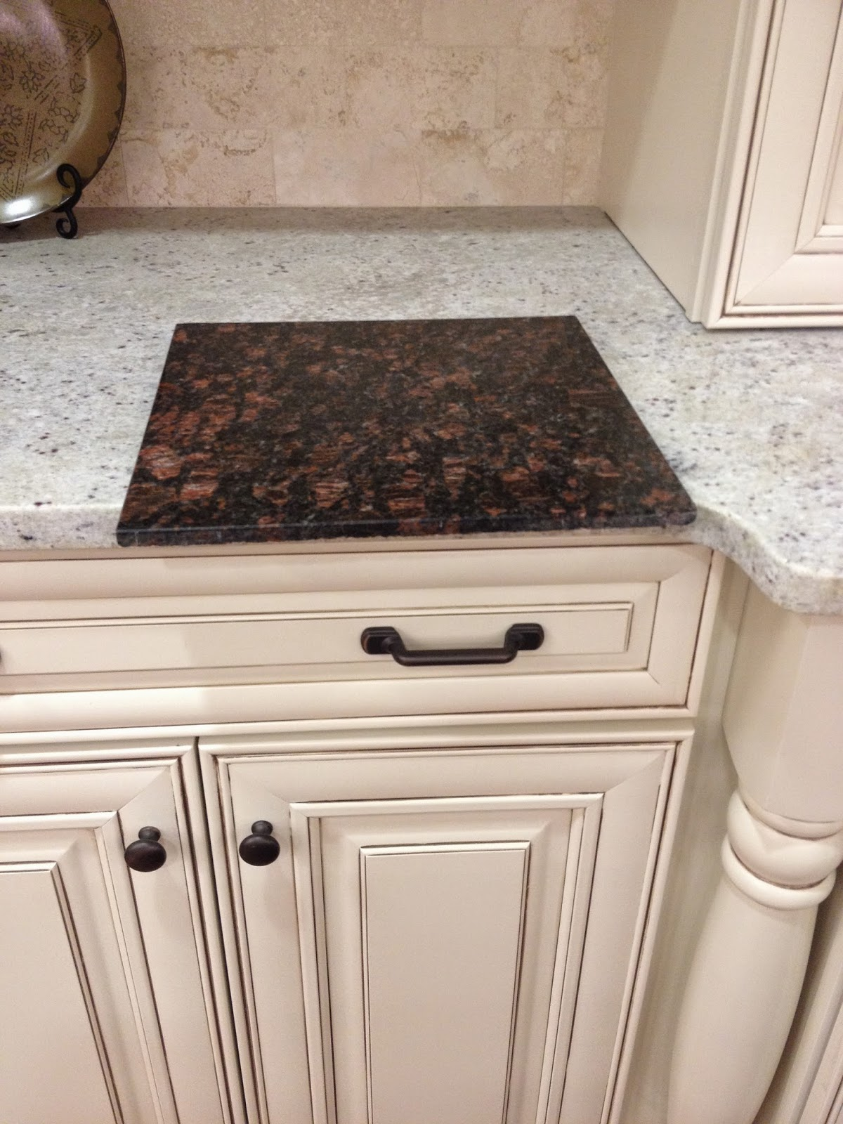Found A Kitchen Setup With Cabinets Very Similar In Color So We Took A  Picture With Our Granite Choice On Top