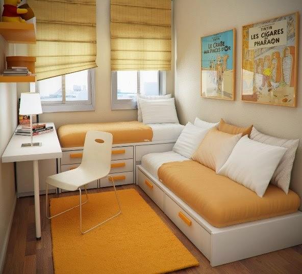 Foto Ruangan Minimalis Sofa Cerah Mungil Modern