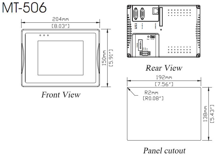 MT506TV Dimension