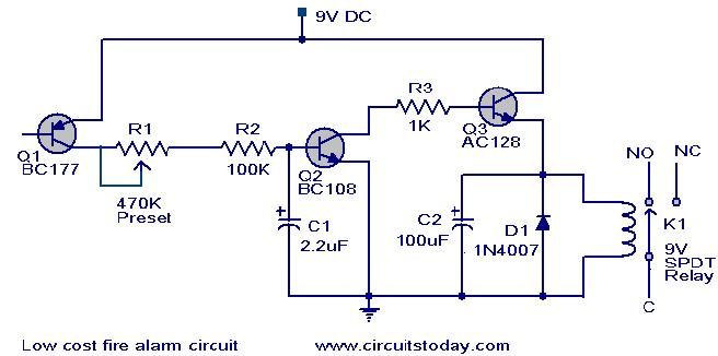 Fire Alarm Circuit Low Cast Electronic Circuit Collection