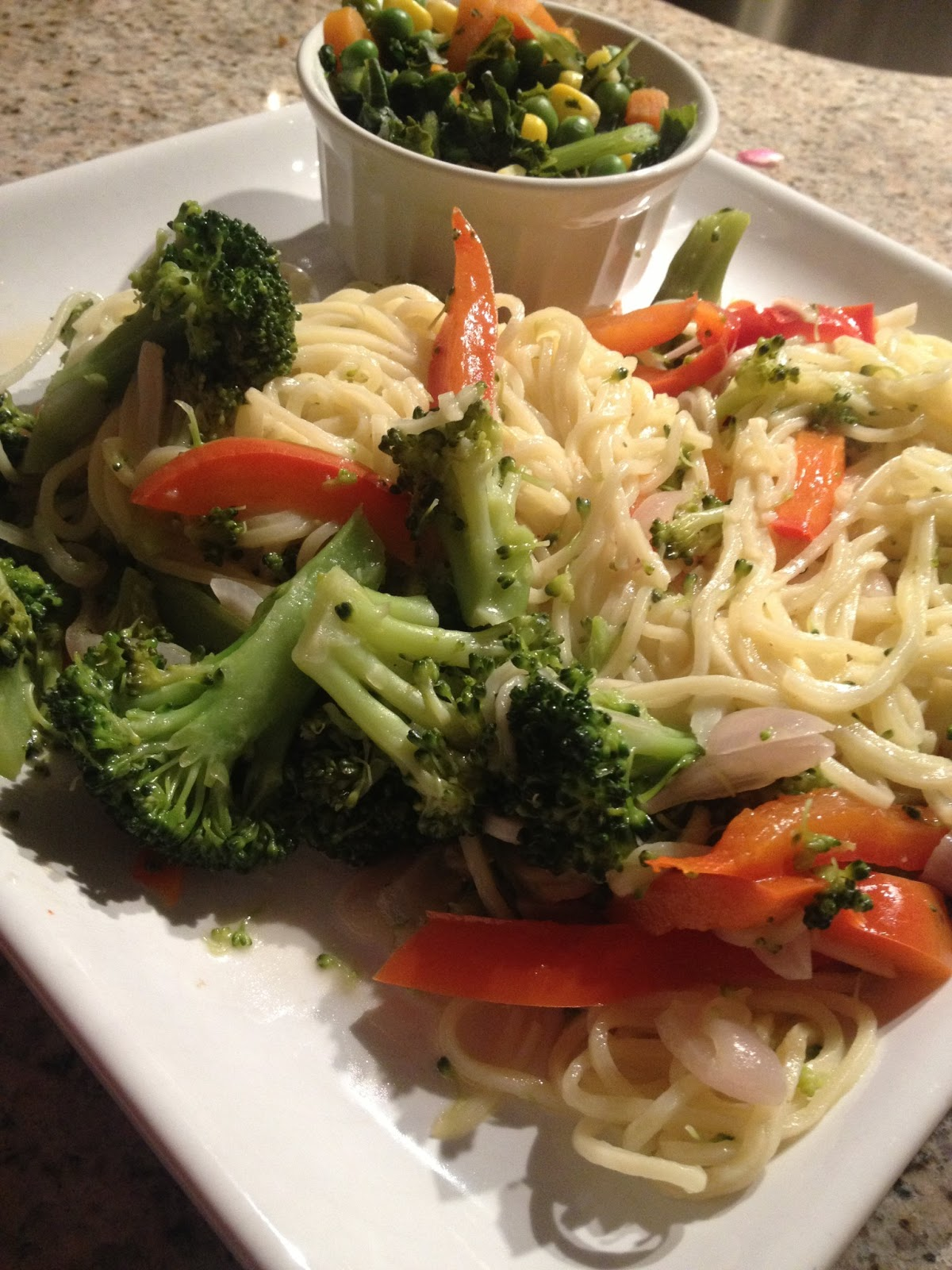 ... : Broccolini & Red Bell Pepper with Fresh Pasta & Brown Butter Sauce