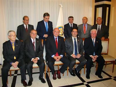 Rotarios de Béjar durante la viista del gobernador