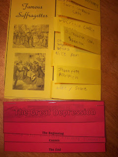 Great Depression elements for lapbook