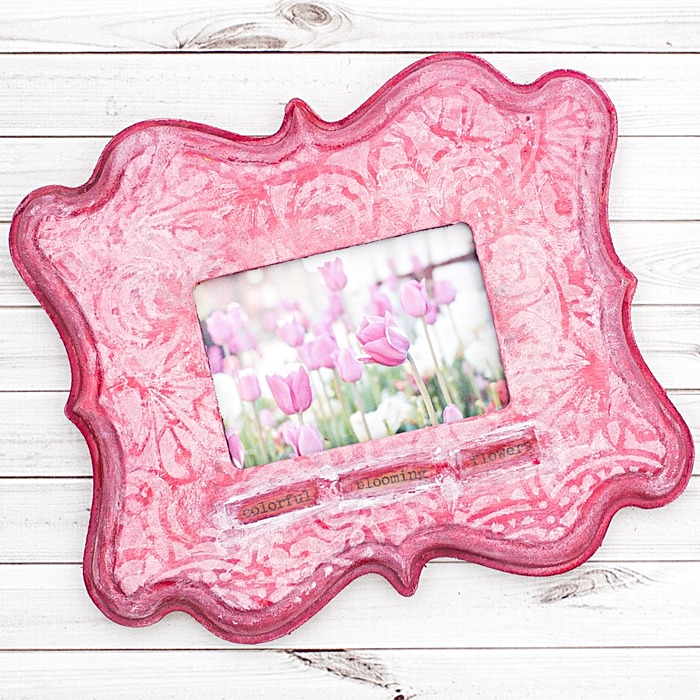 Mixed Media Fancy Painted Frame by Heather Greenwood Designs