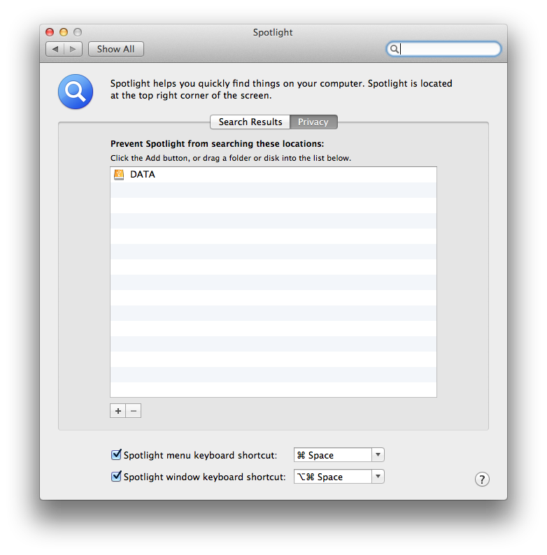 osx indexing and searching disabled dating
