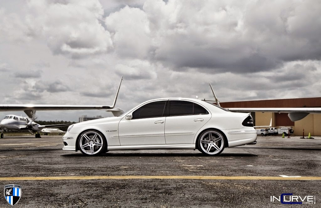 Mercedes W211 E55 Amg On Incurve Wheels on 2013 mercedes benz e55 amg