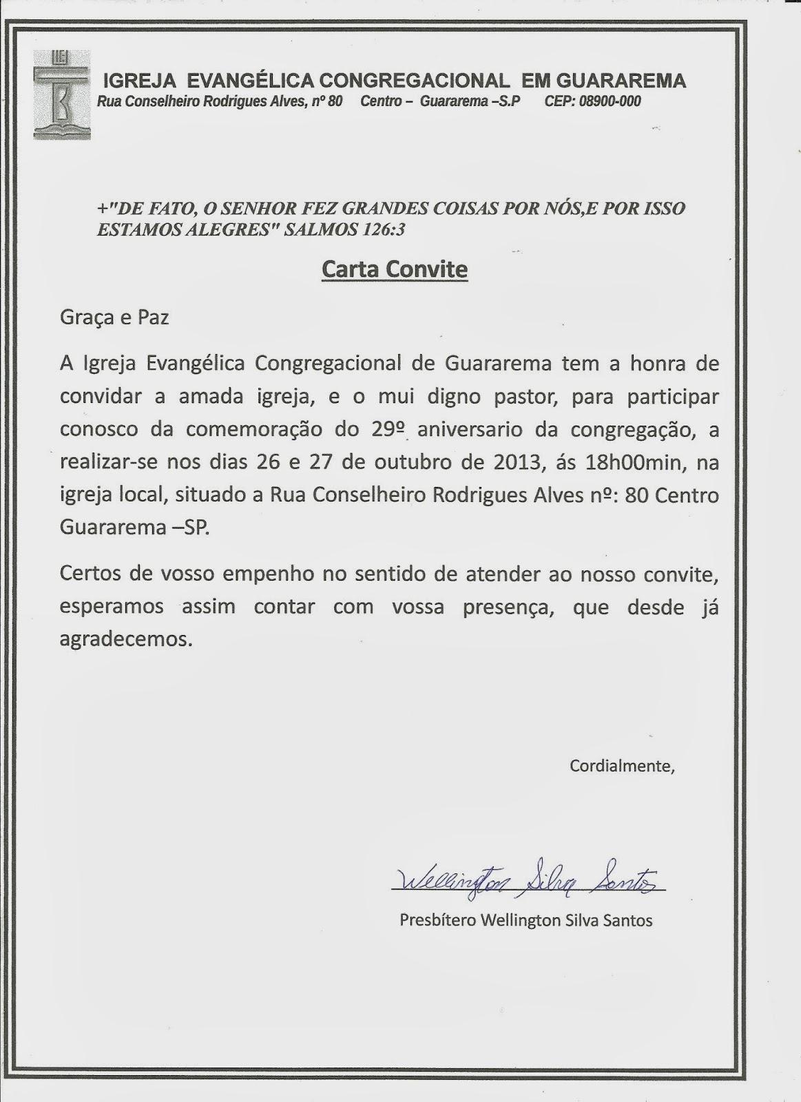Modelos De Cartas Convites Evangelica | MEJOR CONJUNTO DE FRASES