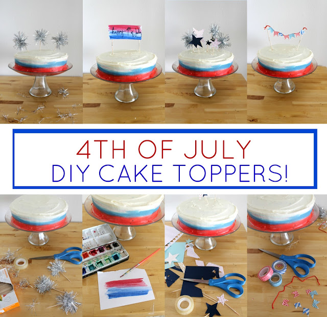 4th of July Cake Topper DIYS