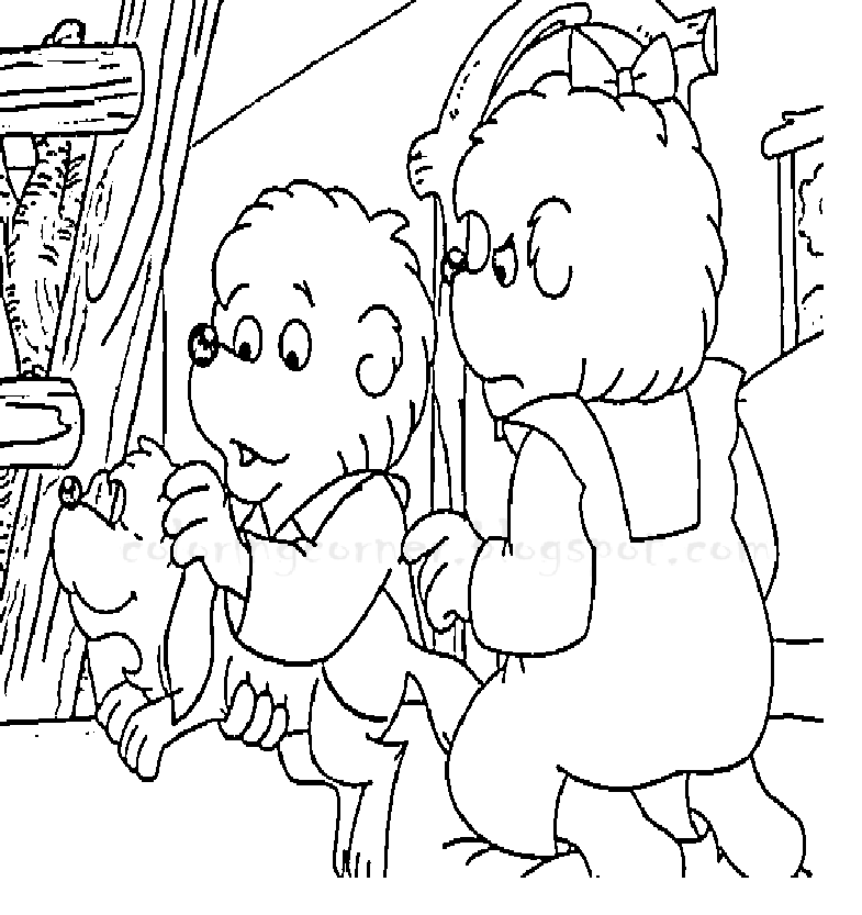 berenstain bears coloring pages Berenstain Bears Balloons  Berenstain Bears Coloring