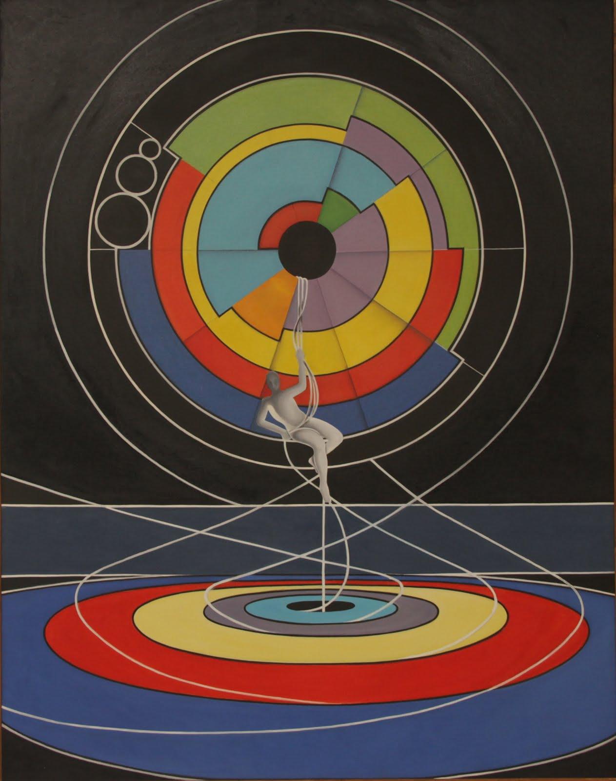 Solange Alves, Contração do Tempo,  Óleo sobre tela, 110x140 cm.