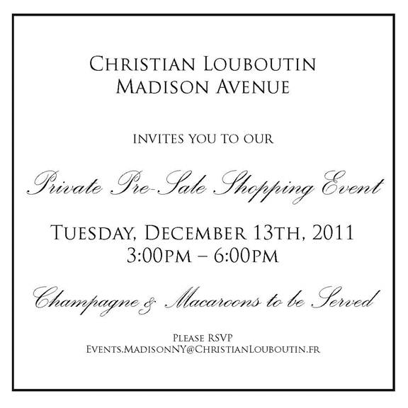 Madison Avenue Spy: Christian Louboutin Private Pre-Sale