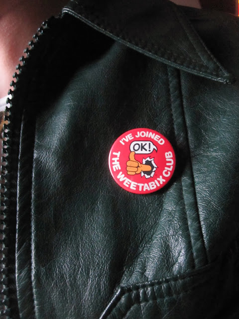 I've joined the Weetabix club badge  Slade member fan club sew on patch Dennis the Menace fan club T Rex Marc Bolan member fan club sew on patch pinback button pin