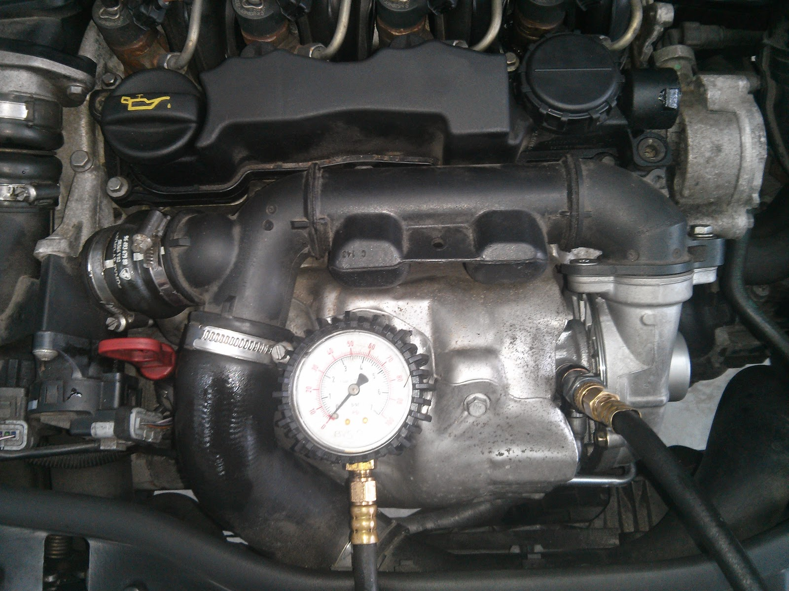 How to measure oil pressure at the turbo