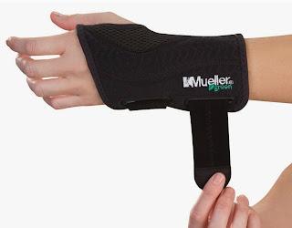 Wrist Brace Mueller Fitted Wrist Brace, Left, Green, Black, Small/Medium
