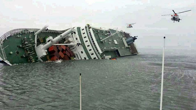 Latest Updates Of South Korea Ferry Sinking Collapsed into Ocean