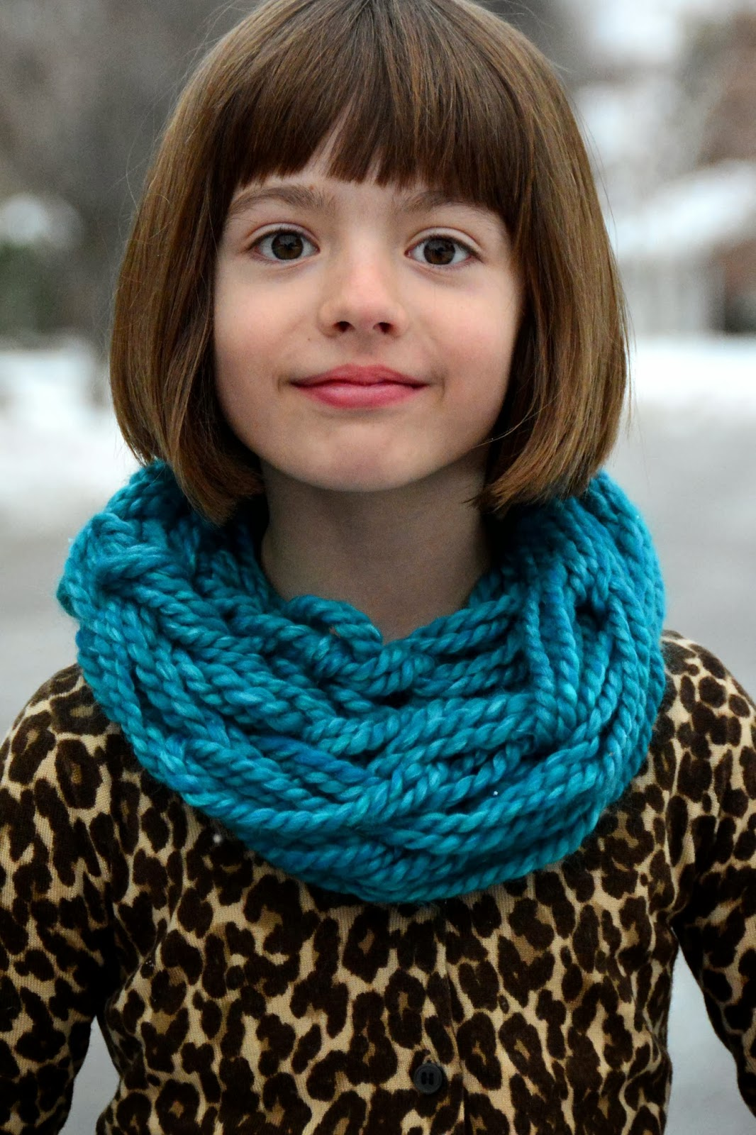 Knitting Pattern Child Cowl : Aesthetic Nest: Knitting: Arm Knit Childs Cowl (Tutorial)
