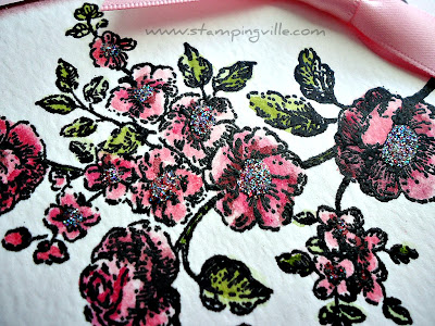 Water Coloring Embossed Image Technique