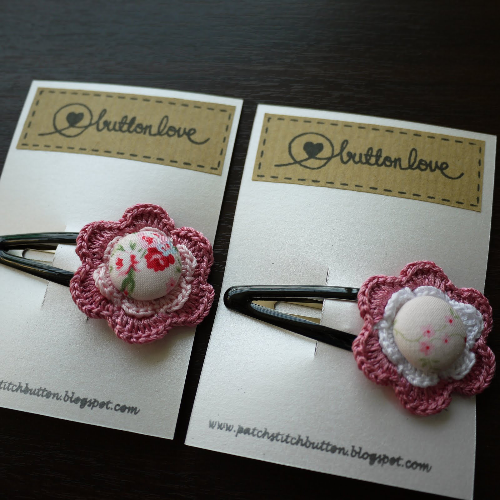 Crochet Hair Accessories : ... crochet hair accessories a collection of handmade hair pin and hair