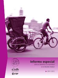 Informe especial sobre el derecho a la movilidad en el Distrito Federal