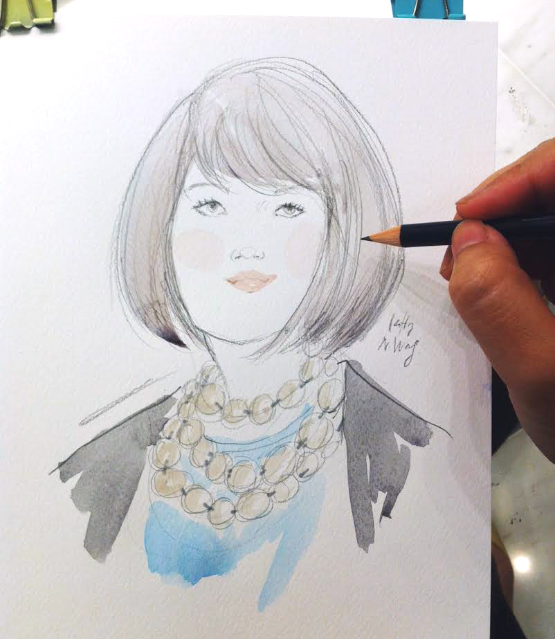 Kitty N. Wong / Tiffany & Co. Live Drawing