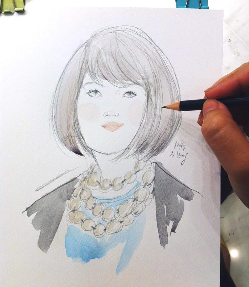 Kitty N. Wong / Tiffany & Co. Live Drawing