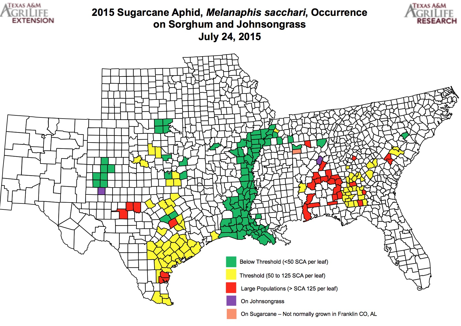 new map more high plains counties have aphids numbers rising in rolling plains