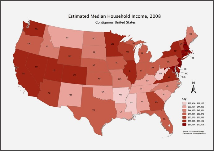 Maps On Maps On Maps November - Us thematic map poverty
