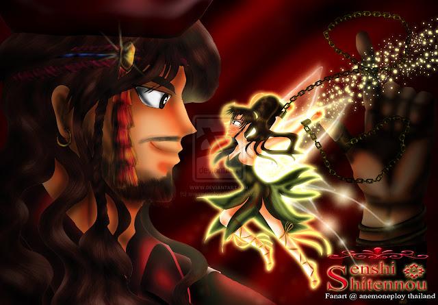 Makoto X Nephrite as Tinker Bell X Captain Hook por anemoneploy