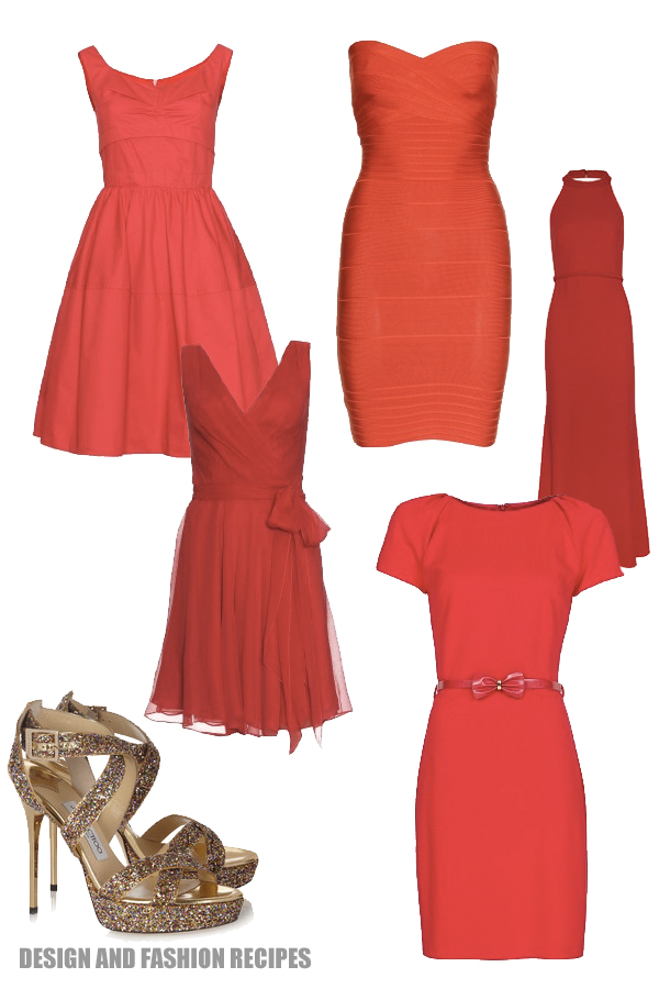 RED DRESSES ON DESIGN AND FASHION RECIPES BY CRISTINA DAL MONTE