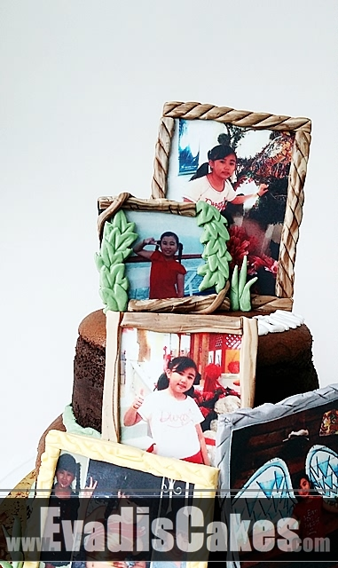 Close view picture of Picture Frame Cake