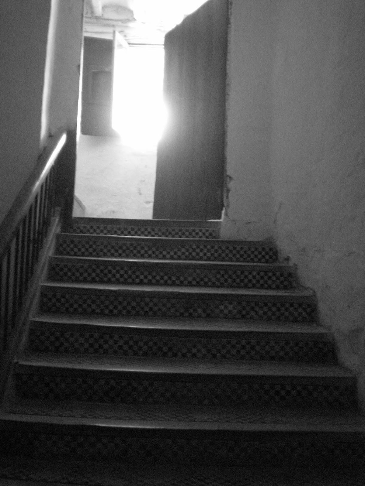 Escalera palacio típico aragonés siglo XVII