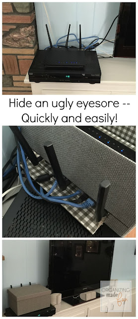 How to hide an ugly eyesore quickly and easily :: OrganizingMadeFun.com