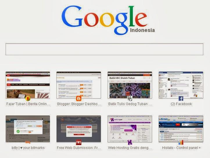 Tampilan terbaru dari Tab Baru di Google Chrome. Makin minimalis, makin manis.