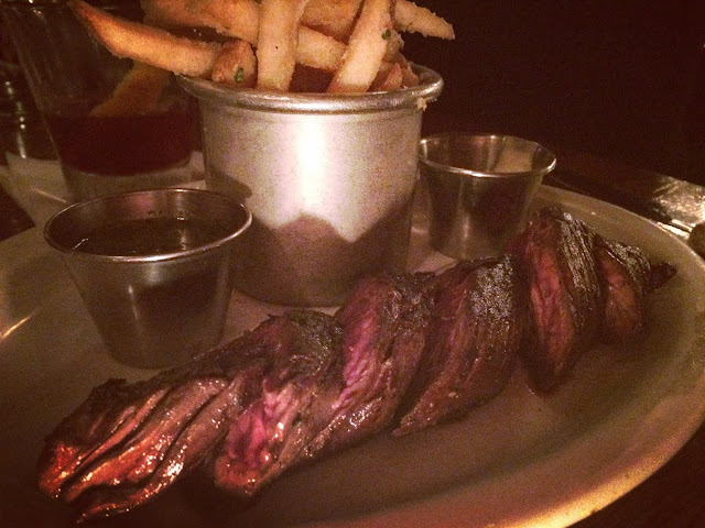 Steak Frites with Chimichurri, Truffle/Parmesan Frites and Tabasco Aioli