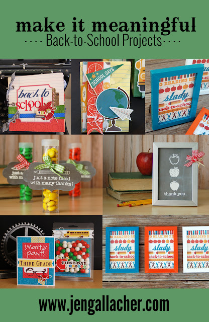 Back-to-School Paper Craft projects by Jen Gallacher found at www.jengallacher.com.