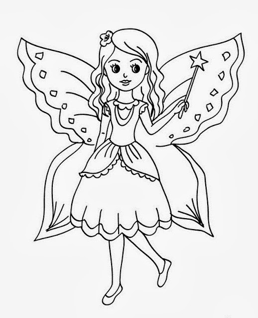 Beautiful Fairy Colour Drawing HD Wallpaper Free Download