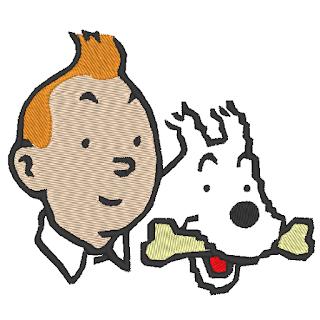 Patchwork passion motif broderie machine tintin et milou - Tintin gratuit ...