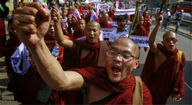 Ada Kemiripan Buddha Myanmar dengan Zionis Israel