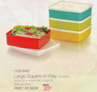 LARGE SQUARE TUPPERWARE