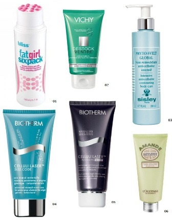 Cremes: Bliss, Vicky, Biotherm, Sisley, L´Occitane