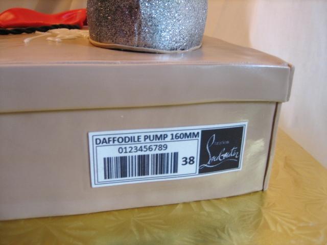 christian louboutin shoe box label