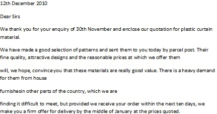 Business Letter Samples Quotation letter sample – Sample Quotation Letter