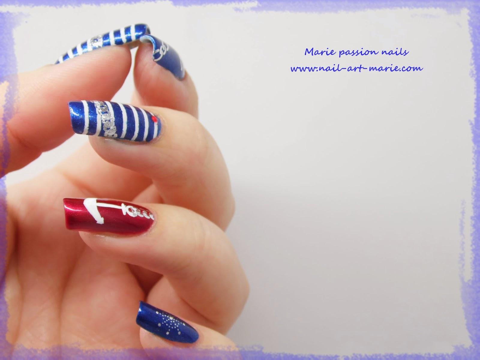 Nail art marin4