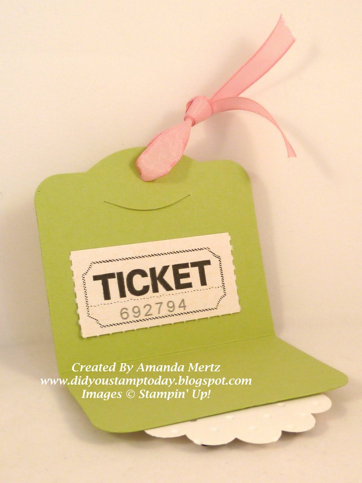 did you stamp today  owl punch class door prize tickets