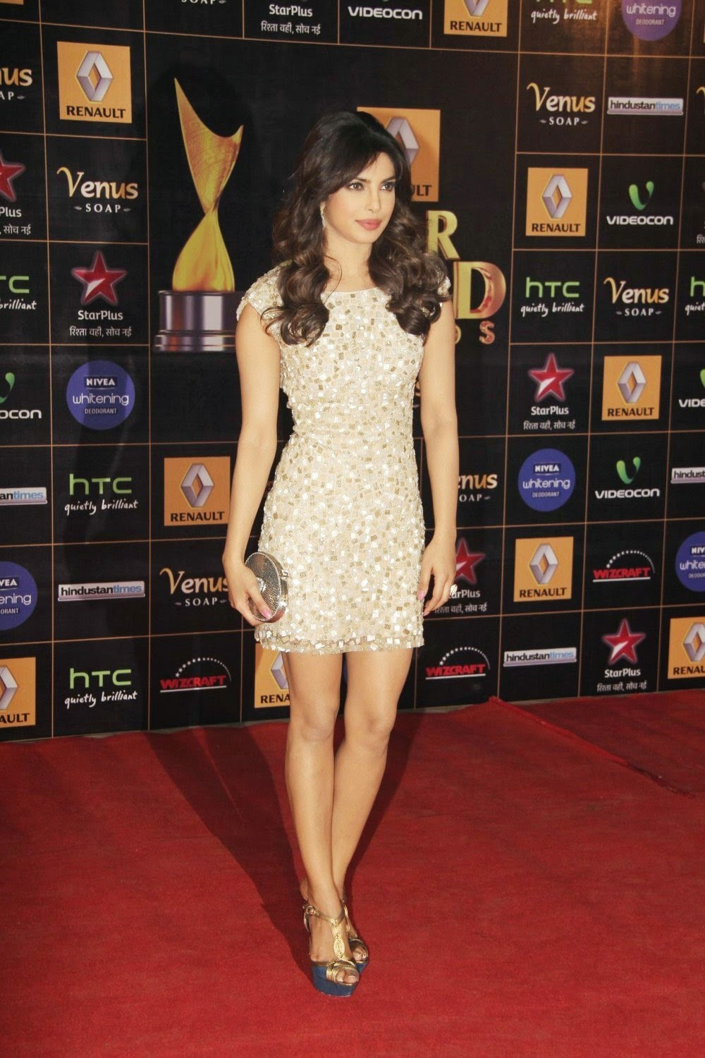 blog on bollybabes priyanka chopra in glittery minidress
