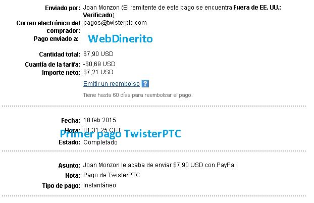 Pago TwisterPTC