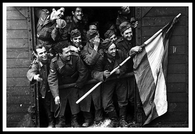 despedida tren voluntarios division azul guerra rusia